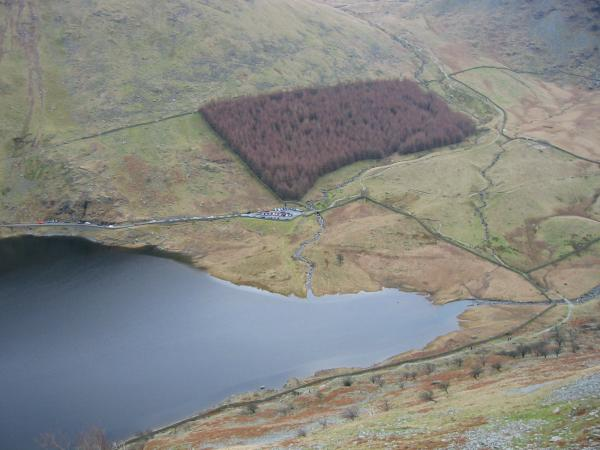 Looking down on Mardale Head