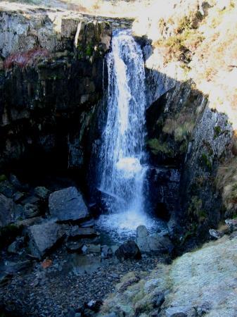 Waterfall in Wrengill Quarry