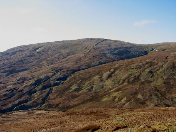 Looking back across Wren Gill to Kentmere Pike from the route (no path) up Adam Seat