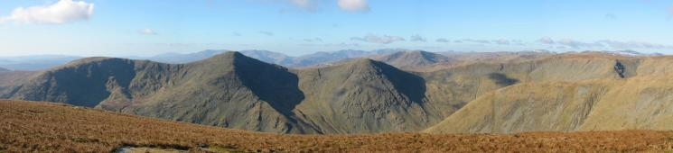 Westerly panorama from Harter Fell