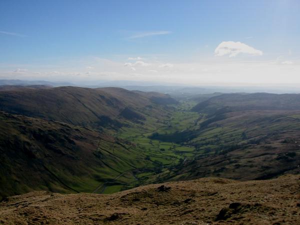 The view down Longsleddale from Goat Scar
