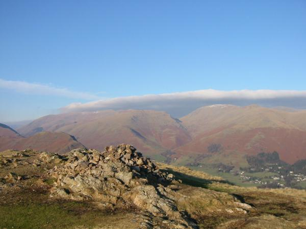 Seat Sandal and Fairfield from Silver How's summit cairn