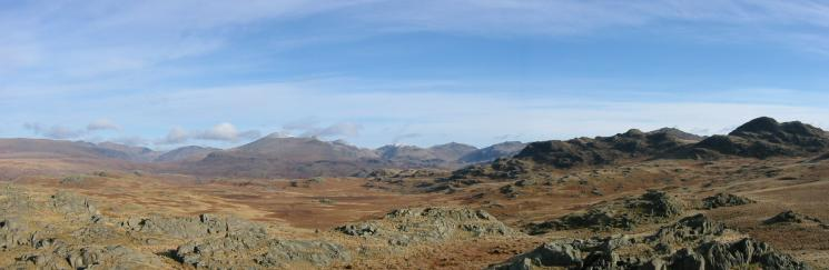 Northerly panorama from Great Crag