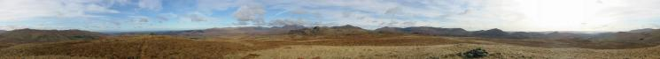 360 Panorama from Great Worm Crag's summit