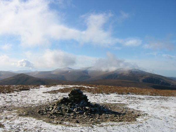 Great Calva and Skiddaw from Knott's summit cairn