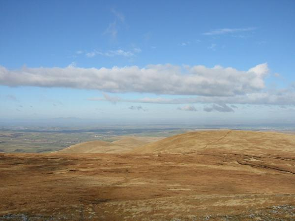 The path to Great Sca Fell from Knott