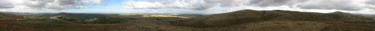 360 Panorama from Longlands Fell's summit