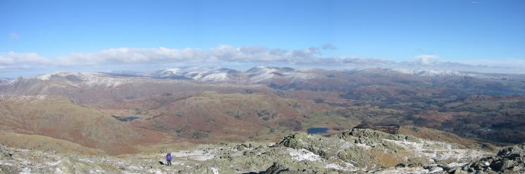Northeasterly panorama from Wetherlam's summit