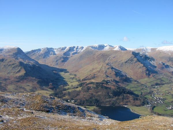 The Helvellyn massif from Place Fell's summit