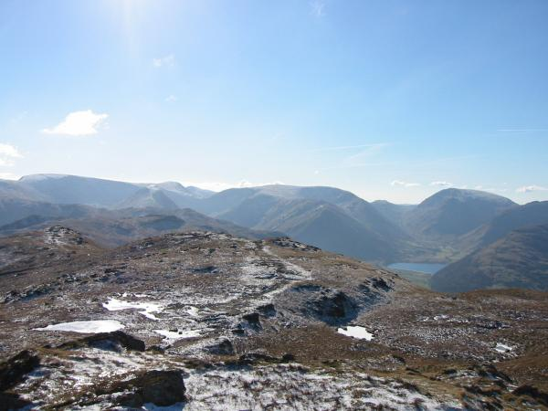 The view south to High Street, Caudale Moor and Red Screes