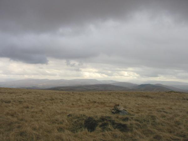 The Howgill Fells from Great Yarlside's summit
