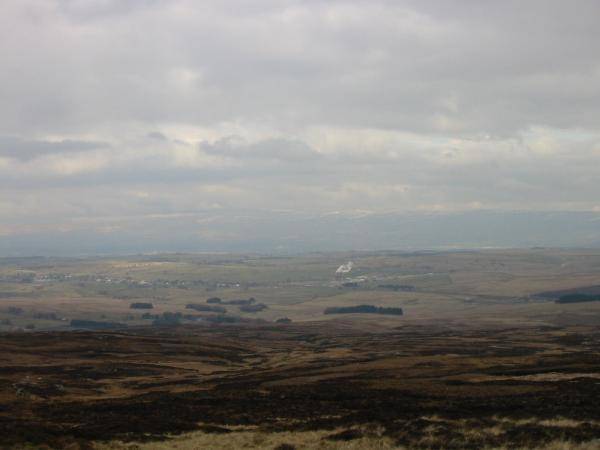 Shap with a touch of snow still on the Pennines in the distance from Wasdale Pike