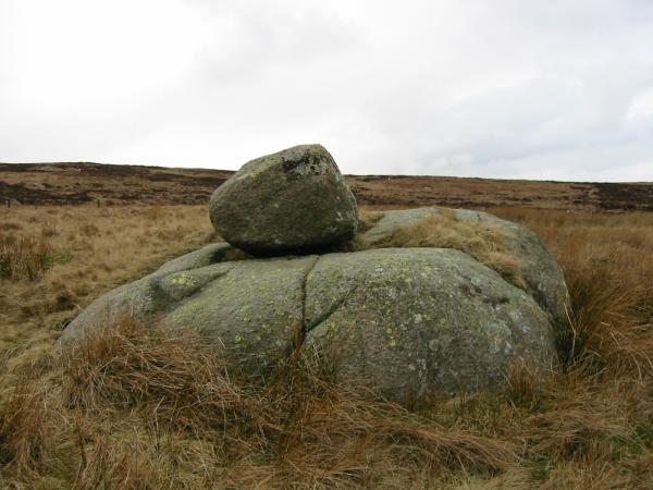 """A diversion off AW's route to visit a perched boulder, """"To Stone or to'ther"""" as marked on the OS 1:25,000 map"""