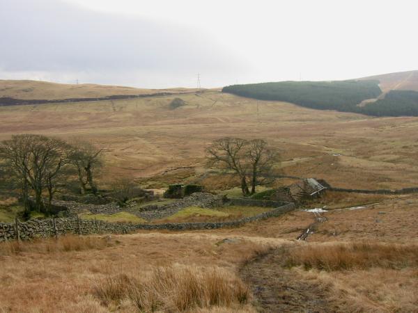The ruins of Wasdale Head Farm