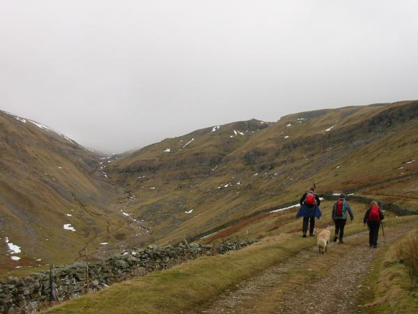 Heading up the valley of Great Rundale Beck