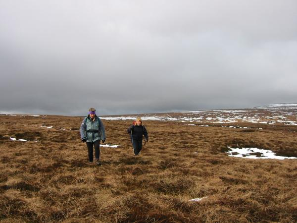 Heading across the pathless moorland