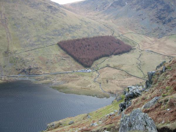 Looking back down on Mardale Head