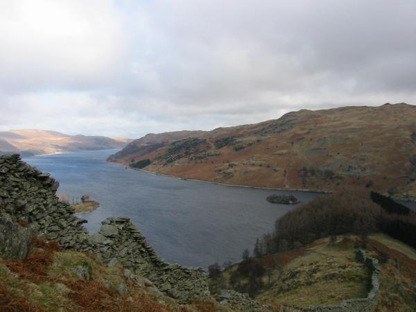 Haweswater and The Rigg from the ascent of Rough Crag
