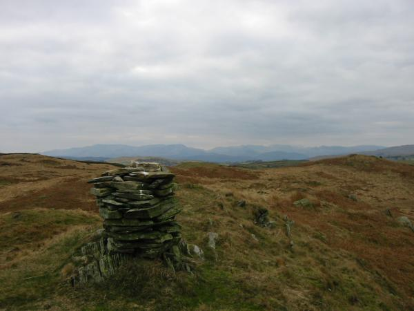 The summit cairn of Hugill Fell