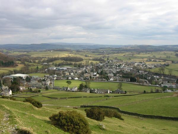 The village of Staveley from the descent