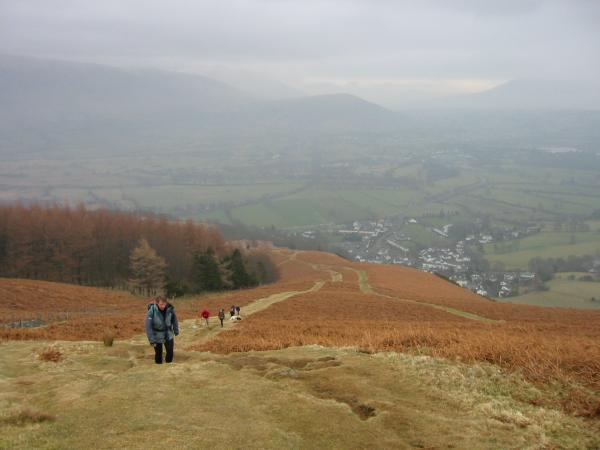 Looking back down the path towards Braithwaite