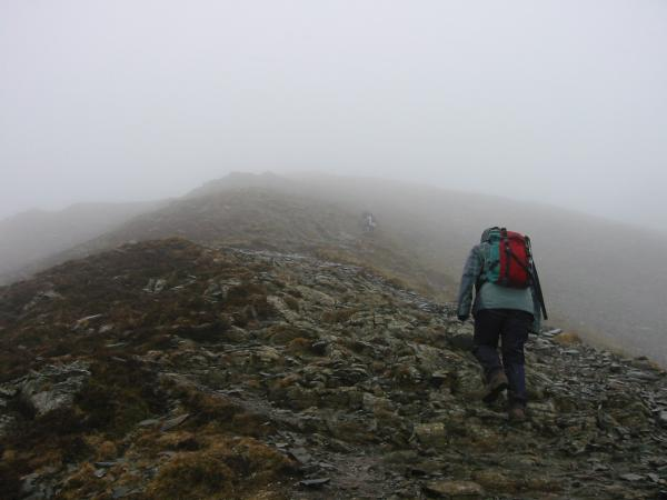 The last section of ridge to Grisedale Pike's summit