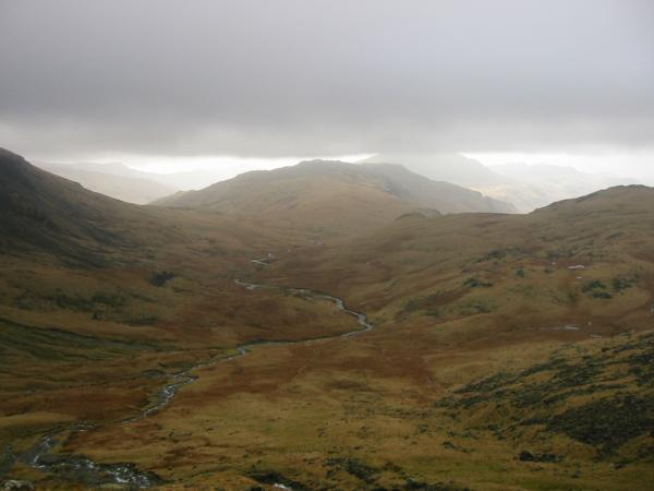 Looking back down on Lingcove Beck