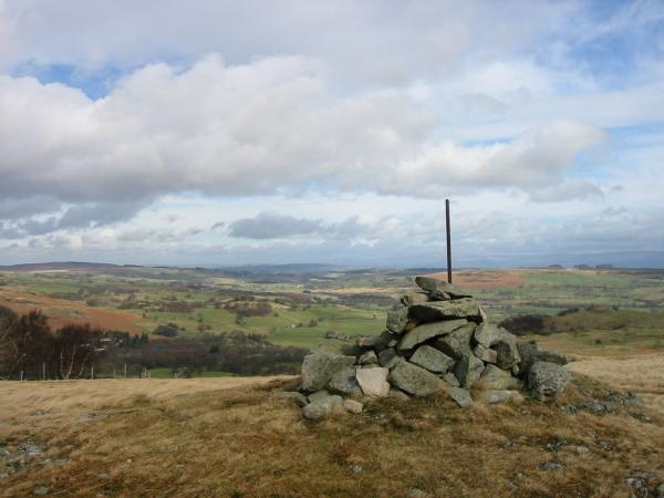 Looking north towards Bampton from the cairn on Harper Hills