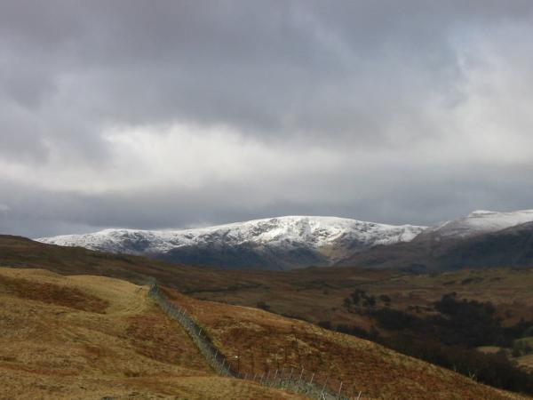 Snow on Mardale Ill Bell, High Steet and Kidsty Pike