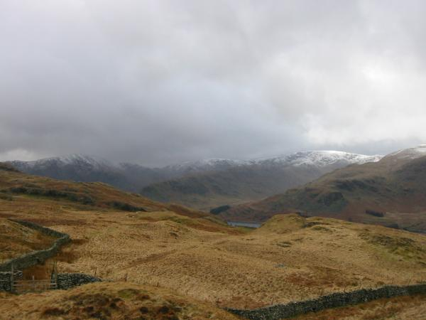 Harter Fell, Mardale Ill Bell and High Street getting some weather!