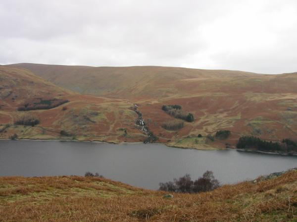 Looking across Haweswater to Measand Beck