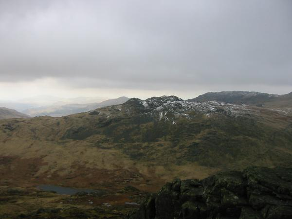 Red Tarn and Cold Pike from the summit
