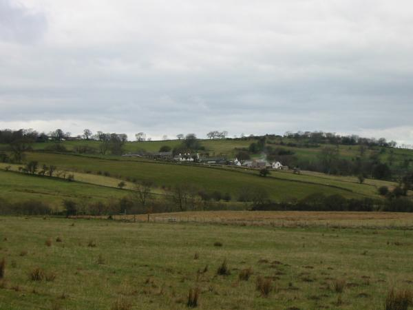 Looking across the fields to Ruthwaite, home of John Peel for most of his life