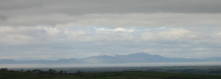 Looking northwest across the Solway Firth to Criffel in Scotland