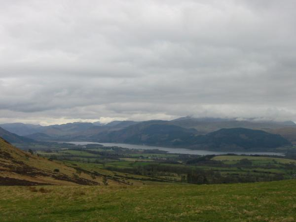 Bassenthwaite Lake and the north western fells from the route up Binsey