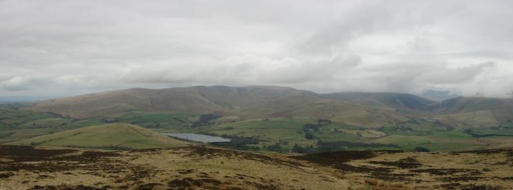 Latrigg and Over Water with Longlands Fell, Great Sca Fell and Great Calva (top in cloud) behind