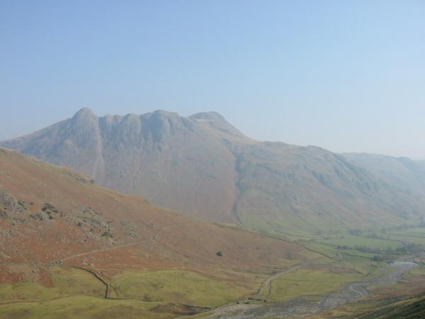 The Langdale Pikes from Brown Howe