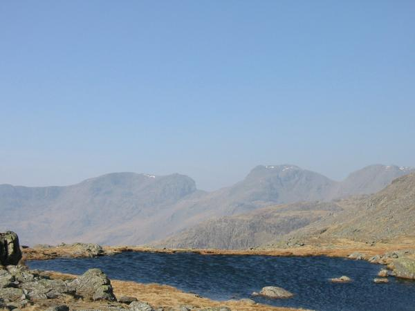Scafell and Scafell Pike from Three Tarns