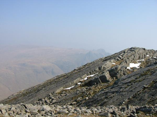 The Great Slab of Flat Crags, Bowfell