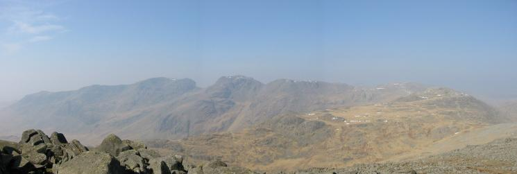 The Scafells from Bowfell's summit