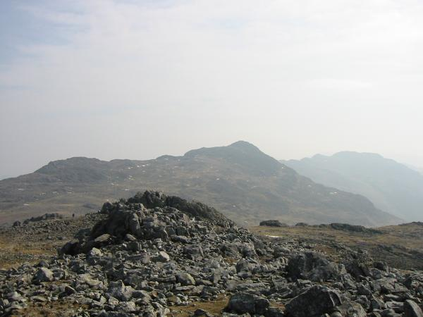 Looking back to Bowfell from Esk Pike