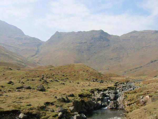 Looking back to Rossett Gill and Pike