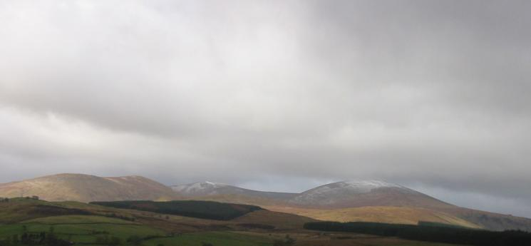 A touch of snow on Stybarrow Dodd and Great Dodd