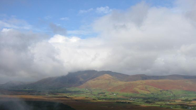 Blencathra with some snow on its very top