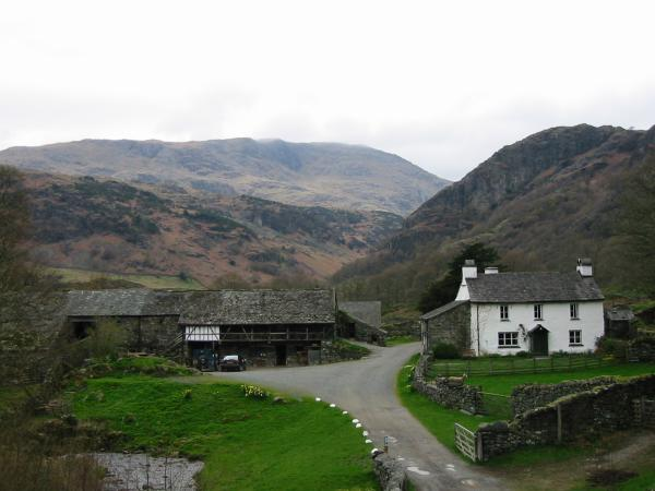 Yew Tree Farm with Wetherlam behind