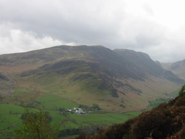 Little Town in the Newlands Valley, below Maiden Moor