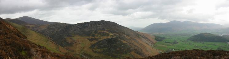 Grisedale Pike, Barrow, the Skiddaw Fells and Swinside from the ascent
