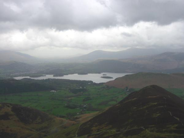 Derwent Water and Rowling End from the ascent