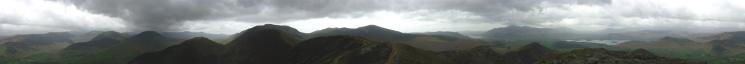 360Panorama from Causey Pike's summit