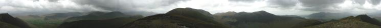 360 Panorama from Scar Crags' summit